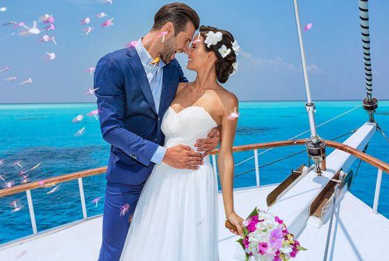 Свадебная церемония «La recepcion del rey» на острове и яхте